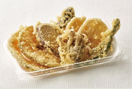 天丼てんやの野菜天盛り合わせの画像