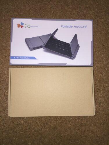 EC Technologyのキーボードが入っている箱の説明